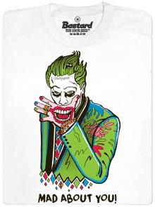 Joker - mad about you - bílé pánské tričko