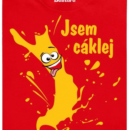 Jsem cáklej - červené pánské tričko