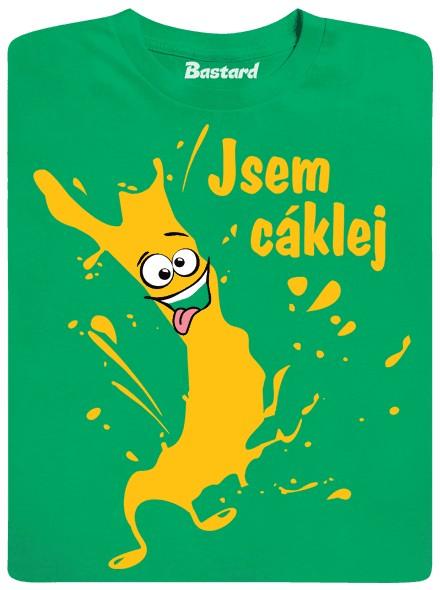 Jsem cáklej jak skvrna od barvy - zelené pánské tričko