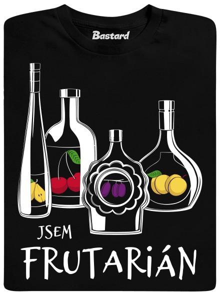 Jsem frutarián - černé pánské tričko