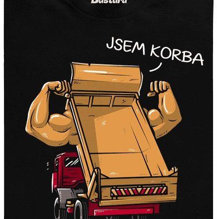 Jsem korba - černé pánské tričko
