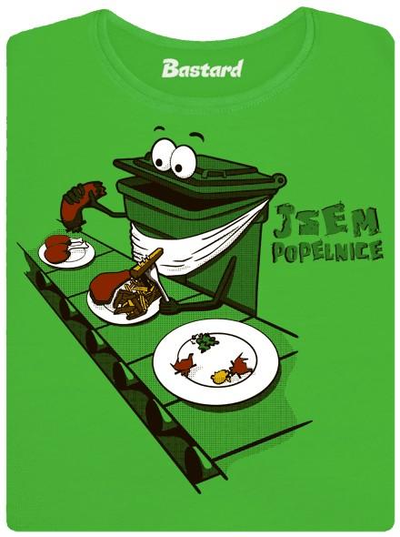 Ten člověk je popelnice - zelené dámské tričko