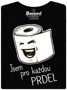 Smějící se toaletní papír - černé dámské tričko
