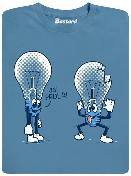 Jsi prdlá! - modré pánské tričko