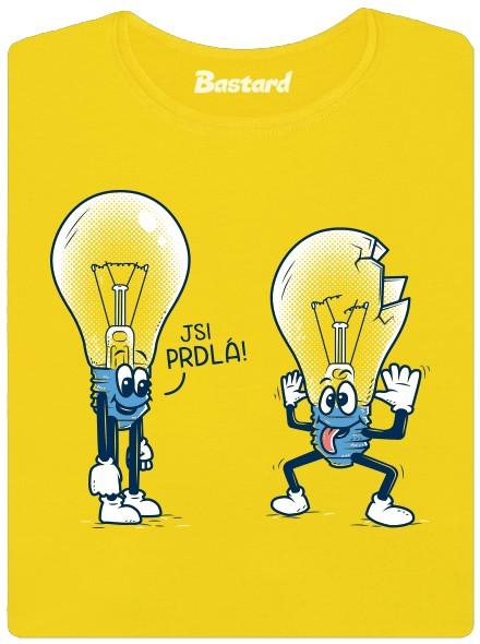 Prasklá žárovka - žluté dámské tričko