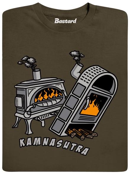 Kamnasutra - hnědé pánské tričko