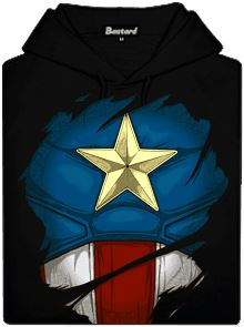 Pánská mikina s potiskem Kapitán Amerika