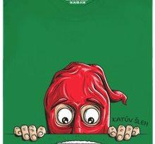 Katův šleh - zelené pánské tričko