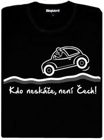 Kdo neskáče není Čech - auto na hrbolaté silnici