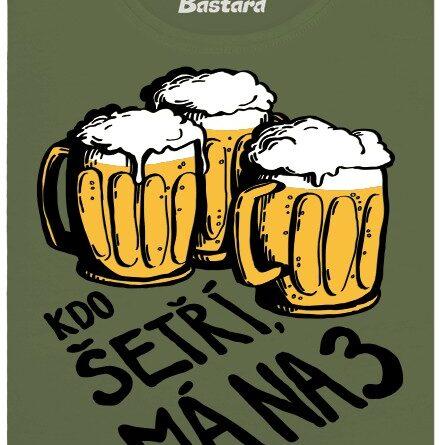 Kdo šetří, má na tři piva - zelené dámské tričko