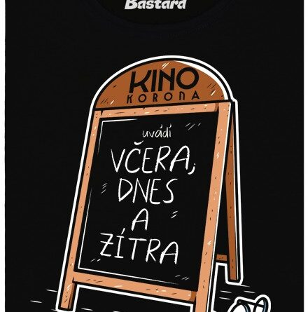 Kino Korona uvádí Včera, dnes a zítra. - černé dámské tričko