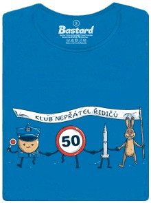 Nepřátelé řidičů - modré dámské tričko