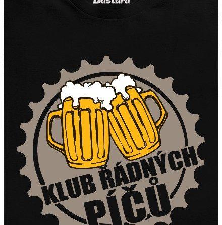 Klub řádných píčů - černé pánské tričko