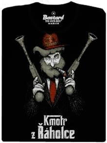 Kmotr Rumcajs z Řáholce - černé tričko s potiskem