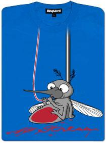 Komár pije krev z kapačky