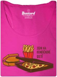 Jste na krabičkové dietě? Ukažte to všem! - růžové dámské tričko