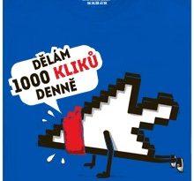 Dělám 1000 kliků denně - modré pánské tričko