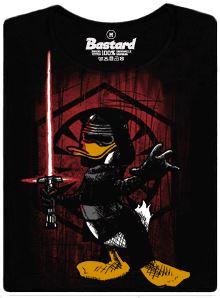 Kylo Ren ze Starwars jako kačer - černé dámské tričko