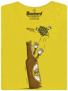 Pivo a potomek chmel - žluté dámské tričko