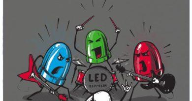 Nové album od skupiny LED Zeppelin - šedé dámské tričko