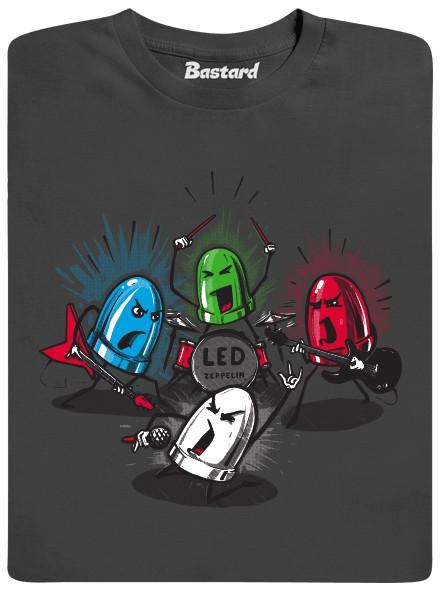 LED Zeppelin - šedé pánské tričko