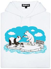 Lední medvědi - zachraňte pandy - bílá dámská mikina