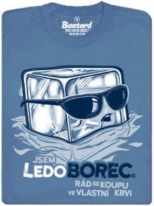 Ledoborec - borec z ledu - modré pánské tričko