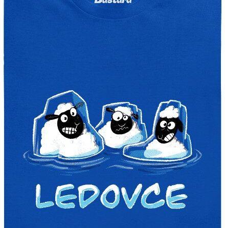 Tři ledovce - modré pánské tričko