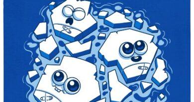 Ledové mimikry - modré pánské tričko