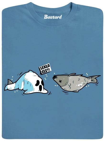 Lekla ses? - modré pánské tričko