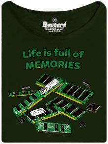 Život je plný pamětí - dámské tričko