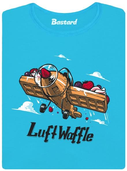 Luft Waffle aneb vzdušná wafle - modré dámské tričko