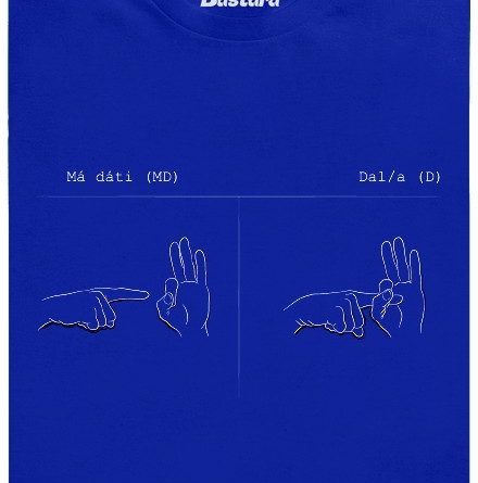 Má dáti (MD) - Dal (D) - modré pánské tričko