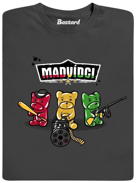 Naštvaní gumoví medvídci - šedé pánské tričko
