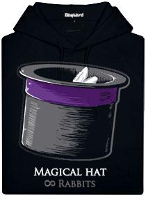 Černá dámská mikina s oboustranným potiskem Magický klobouk