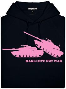 Make love, not war - černá pánská mikina