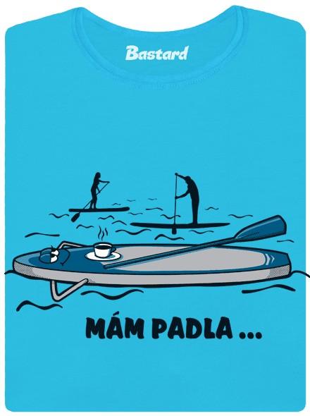 Paddleboard má padla - modré dámské tričko