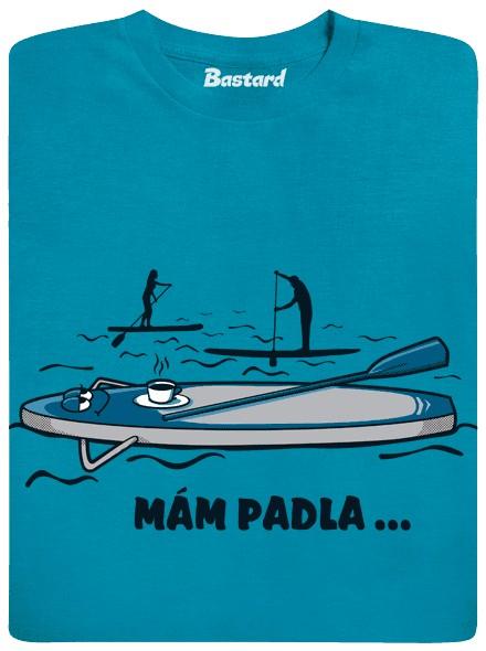 Mám padla - paddleboard - modré pánské tričko
