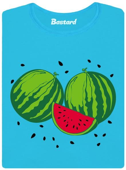 Melounová sezona - modré dámské tričko