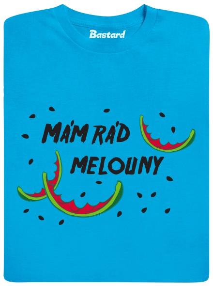 Mám rád melouny - modré pánské tričko