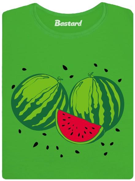 BIO melouny - zelené dámské tričko