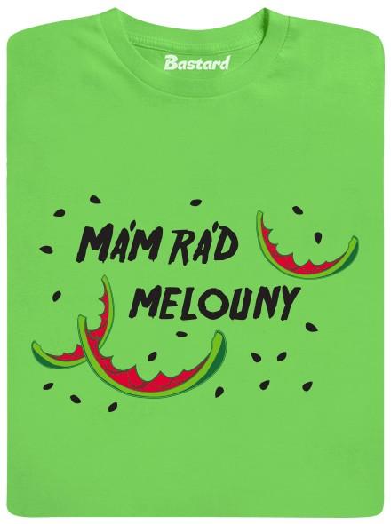 Mám rád melouny - zelené pánské tričko