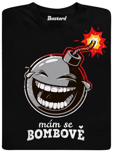 Mám se bombově - černé pánské tričko