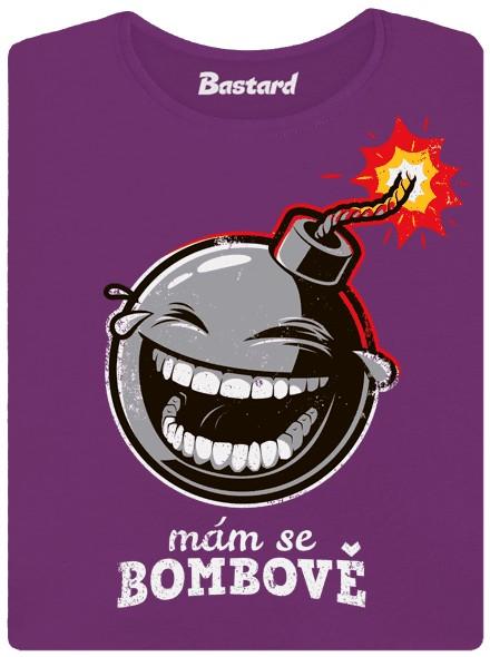 Smějící se bomba - fialové dámské tričko