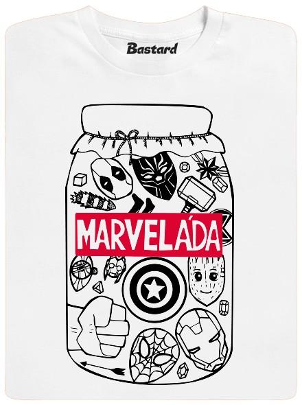 Marveláda - výtažek ze superhrdinů Marvel - bílé pánské tričko