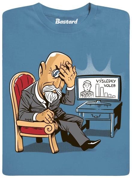 Masaryk - modré pánské tričko