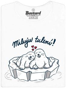 Tuleni milujou tulení - bílé dámské tričko