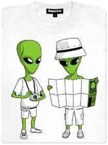 Mimozemšťani a mapa - dámské tričko