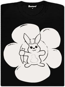Agresivní zajíček - svítící potisk na dámském tričku