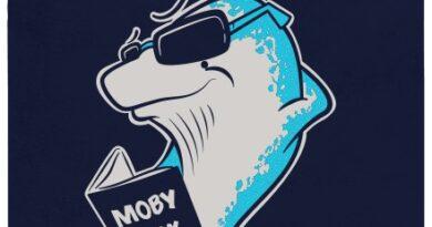 Moby Dick - černé pánské tričko